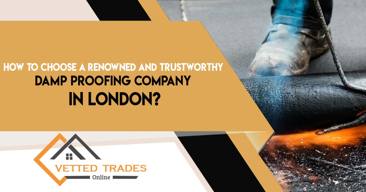 How to choose a renowned and trustworthy damp proofing company in London?