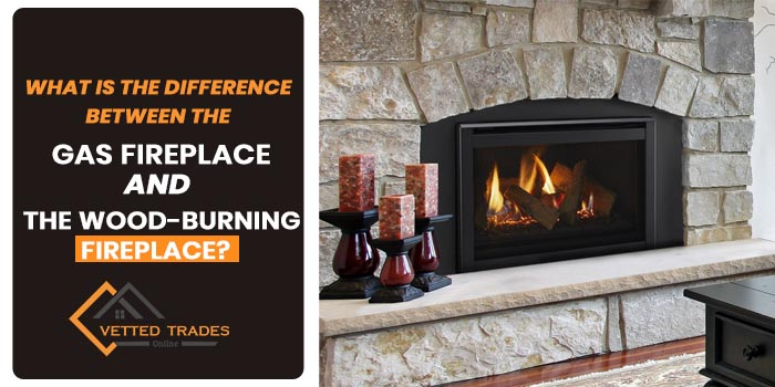 What is the difference between the gas fireplace and the wood-burning fireplace?